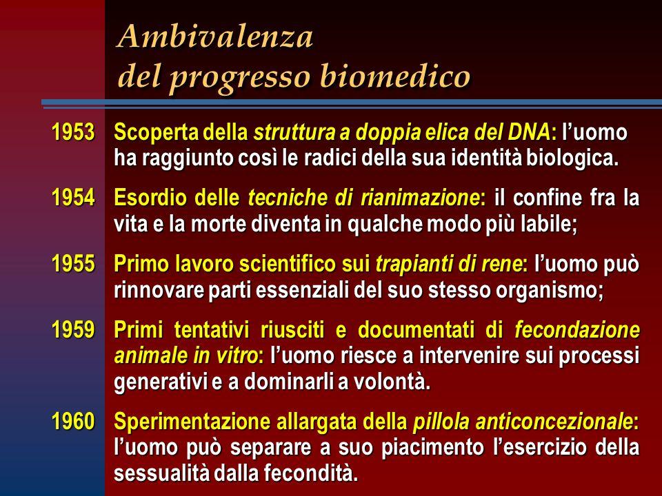 Ambivalenza del progresso biomedico