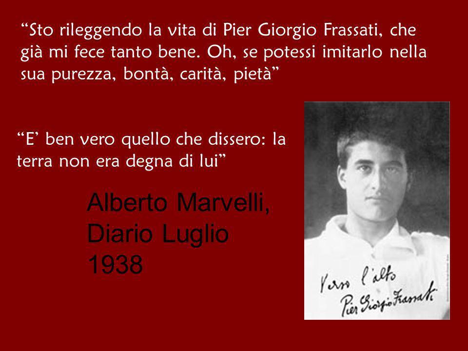 Alberto Marvelli, Diario Luglio 1938