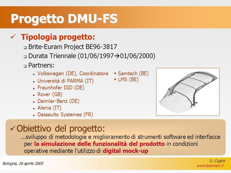 Progetto DMU-FS Tipologia progetto: Obiettivo del progetto: