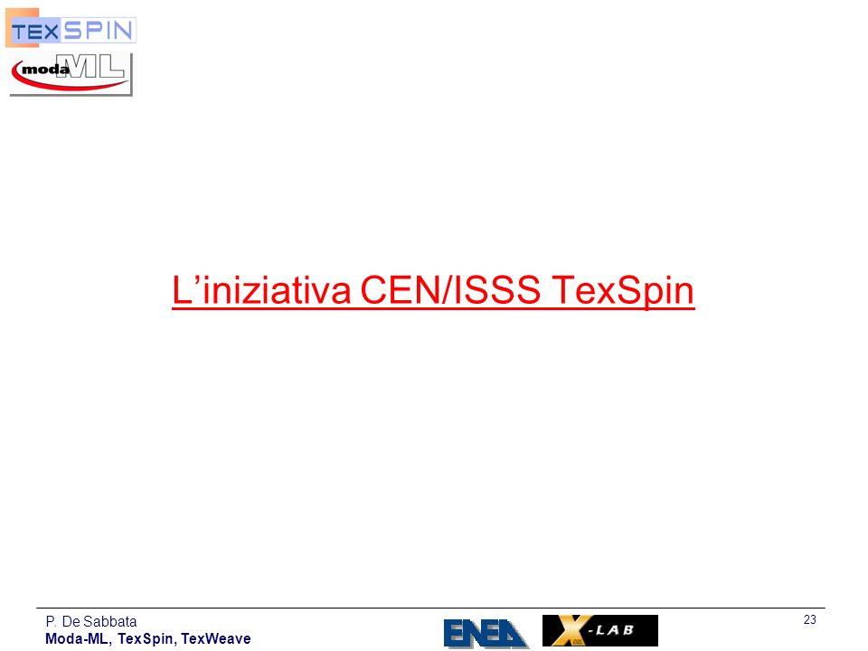 L'iniziativa CEN/ISSS TexSpin