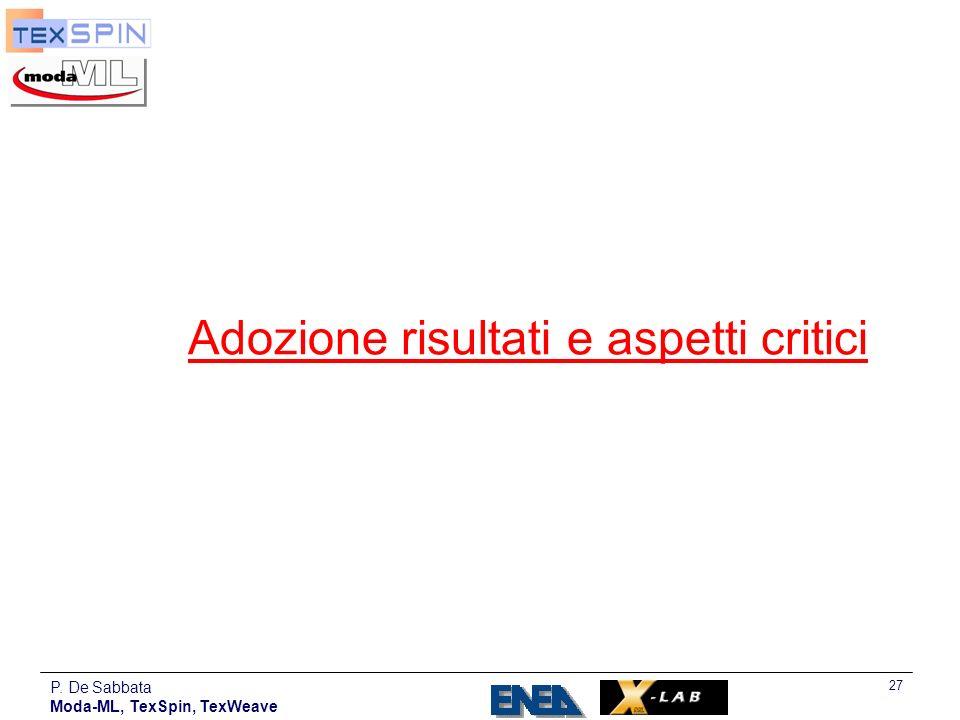 Adozione risultati e aspetti critici