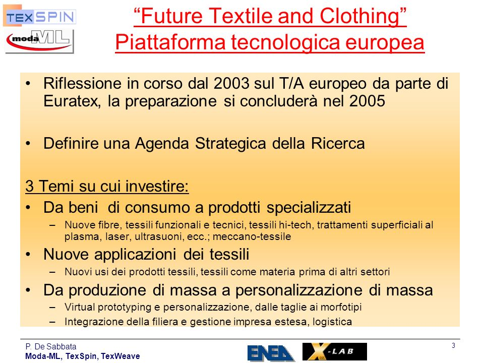 Future Textile and Clothing Piattaforma tecnologica europea
