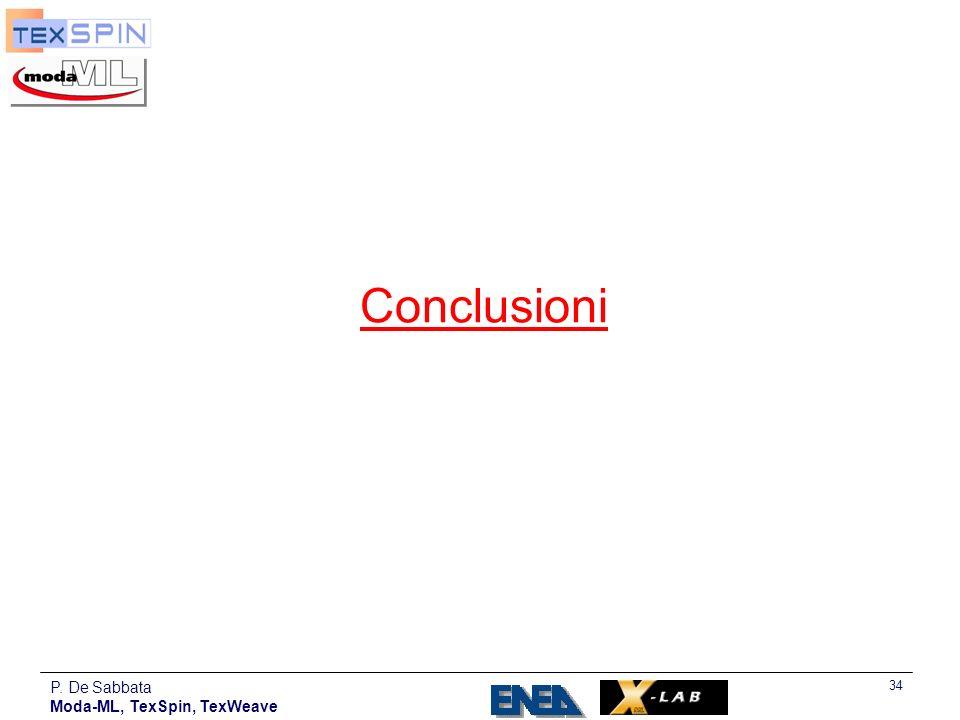 Conclusioni P. De Sabbata Moda-ML, TexSpin, TexWeave
