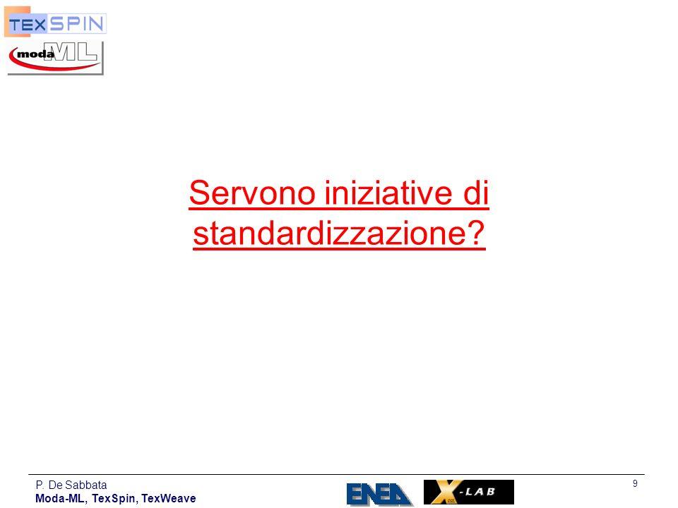 Servono iniziative di standardizzazione