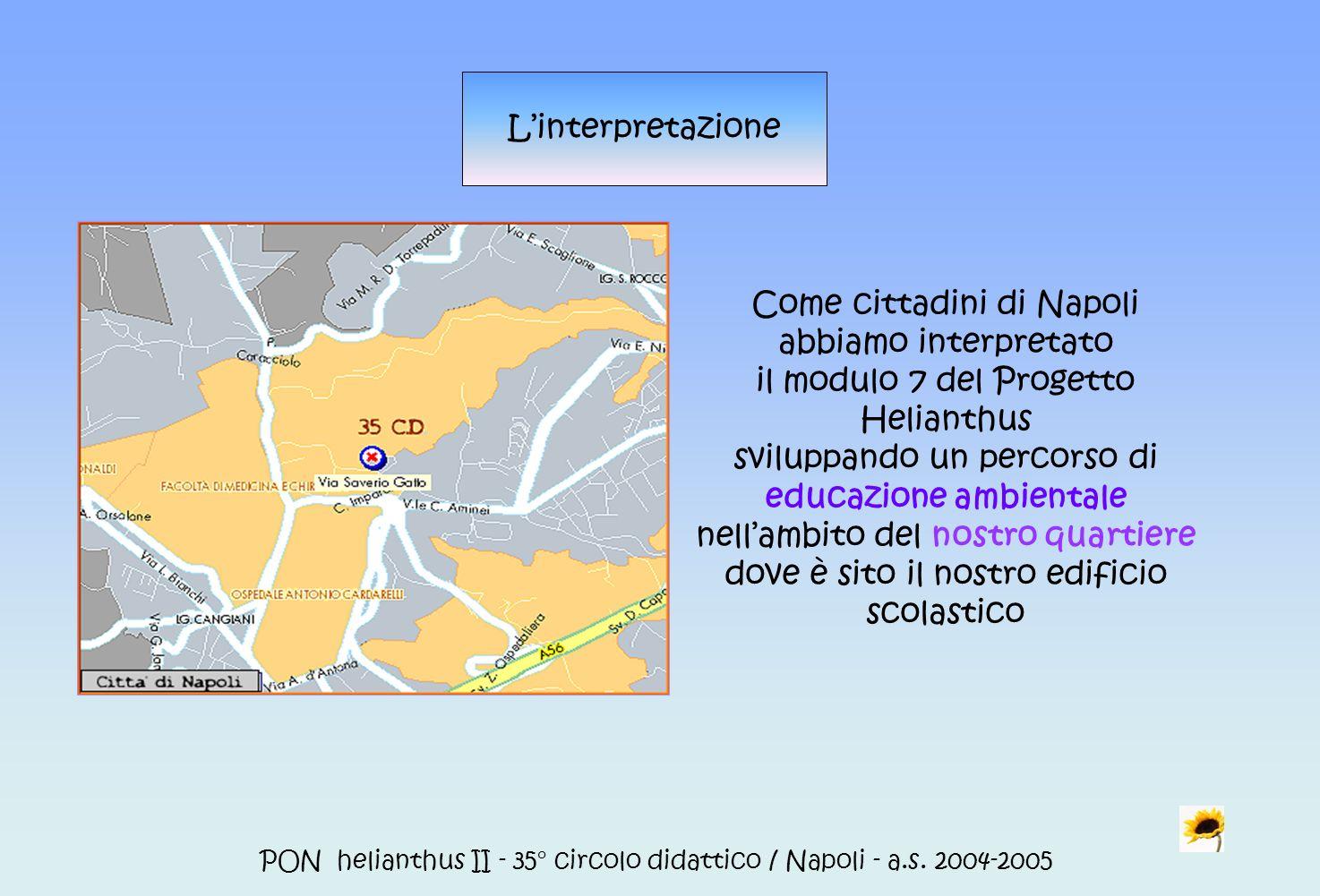 Come cittadini di Napoli abbiamo interpretato