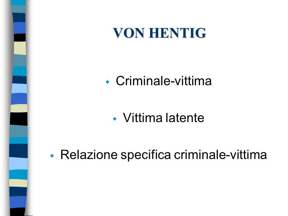 Relazione specifica criminale-vittima