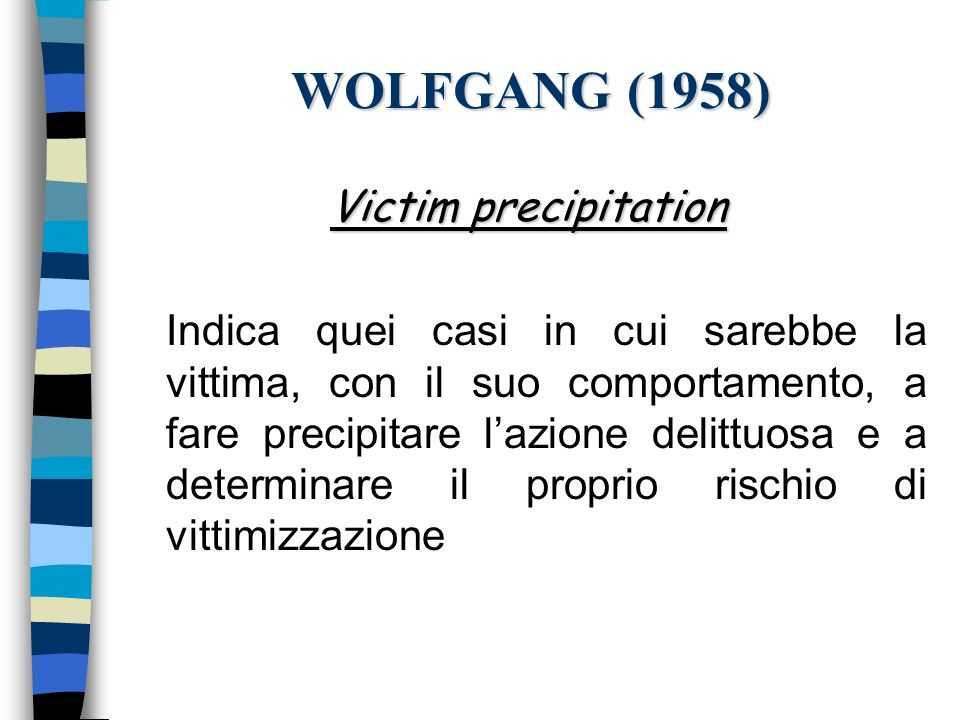WOLFGANG (1958) Victim precipitation