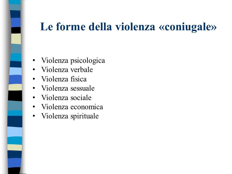 Le forme della violenza «coniugale»