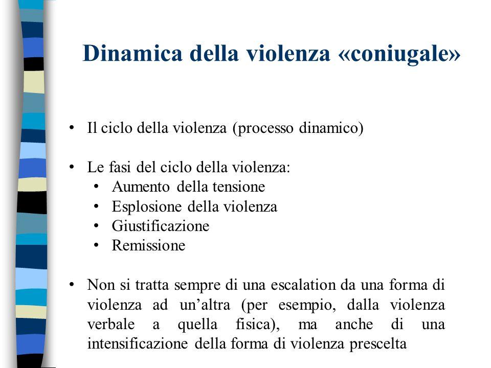 Dinamica della violenza «coniugale»