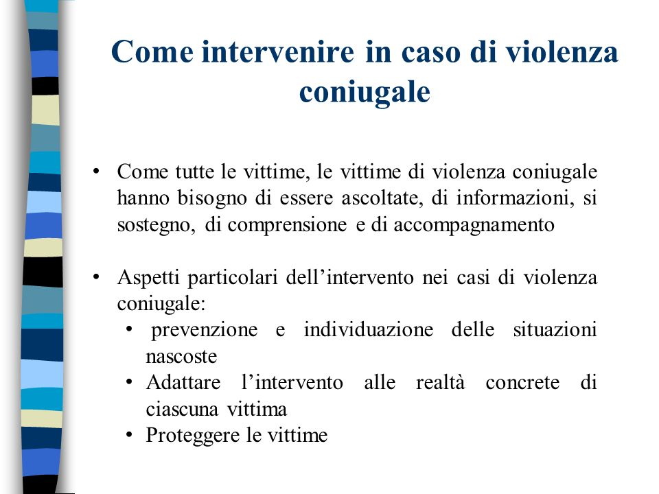 Come intervenire in caso di violenza coniugale