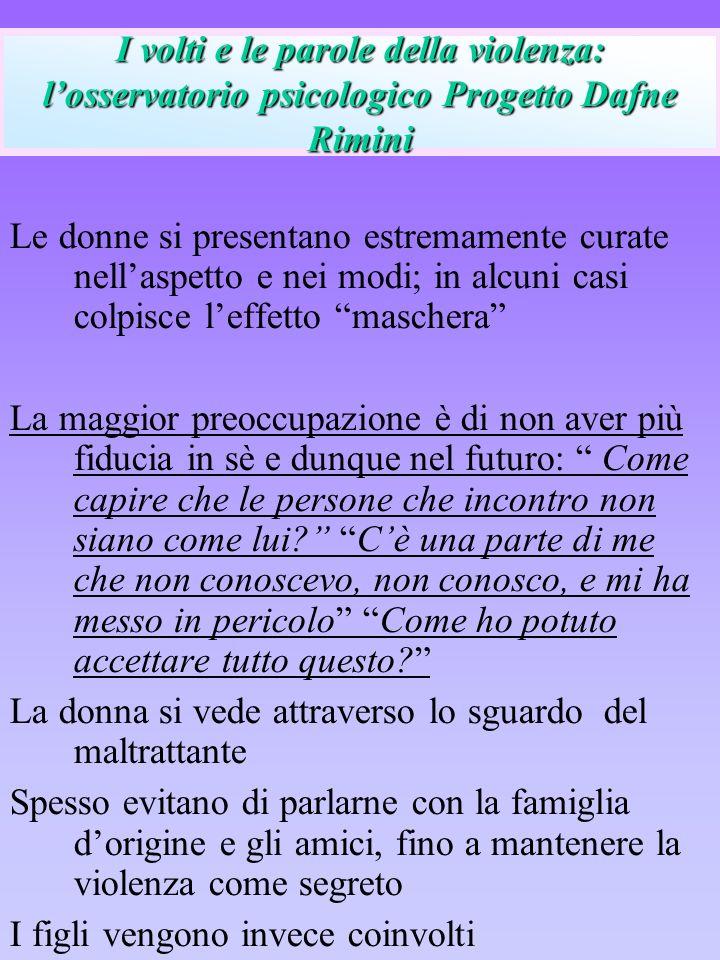 I volti e le parole della violenza: l'osservatorio psicologico Progetto Dafne Rimini