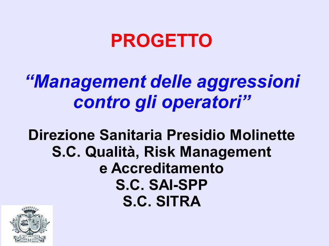 PROGETTO Management delle aggressioni contro gli operatori