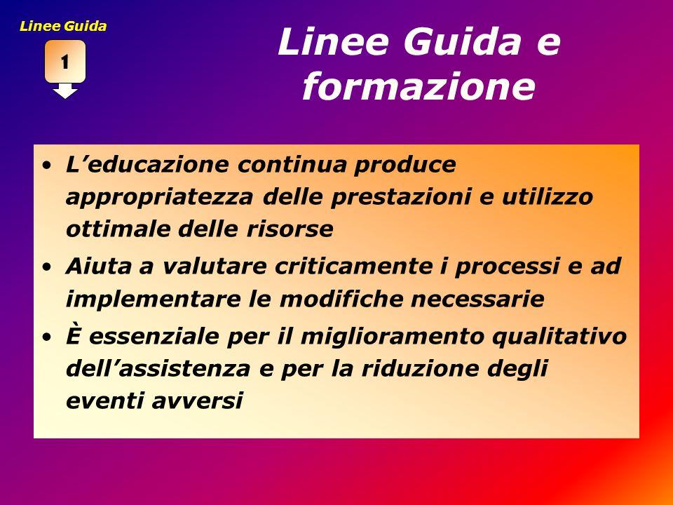 Linee Guida e formazione