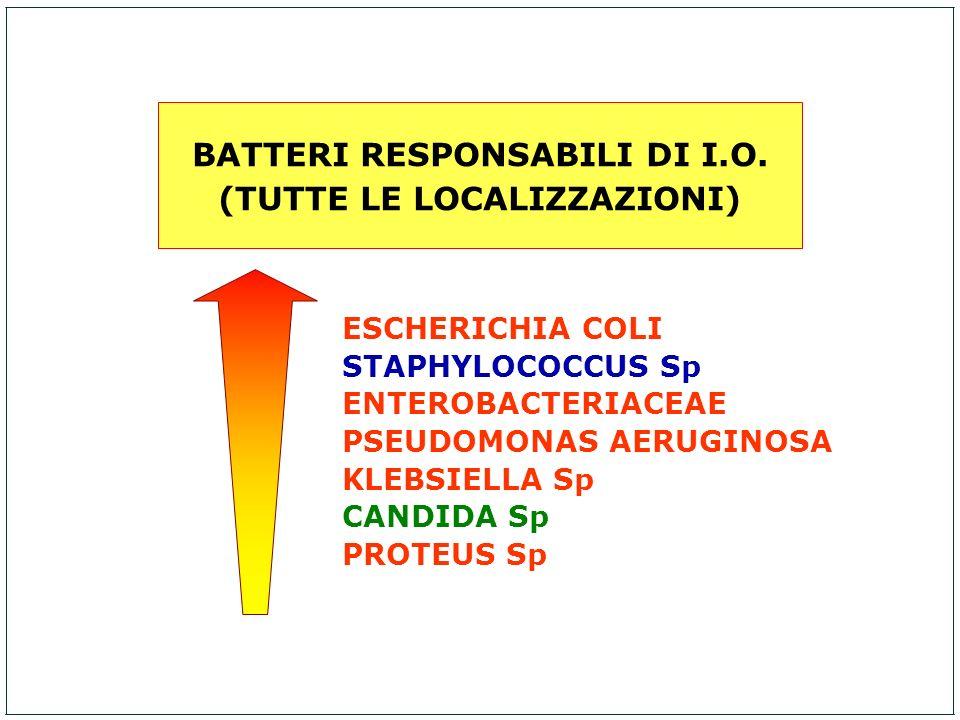 BATTERI RESPONSABILI DI I.O. (TUTTE LE LOCALIZZAZIONI)