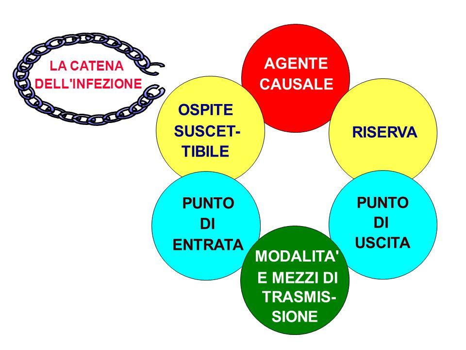 AGENTE CAUSALE OSPITE SUSCET- RISERVA TIBILE PUNTO PUNTO DI DI USCITA