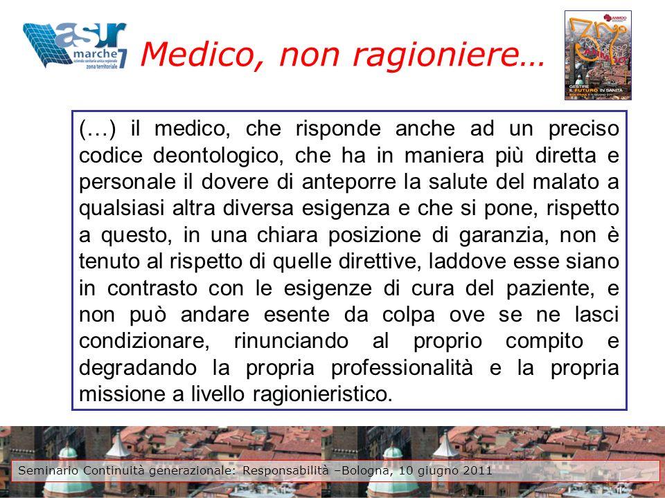 Medico, non ragioniere…