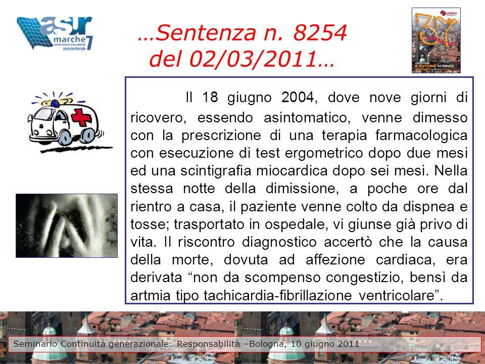 …Sentenza n. 8254 del 02/03/2011…