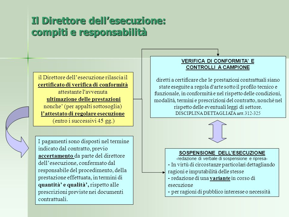 Il Direttore dell'esecuzione: compiti e responsabilità