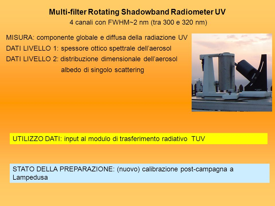 Multi-filter Rotating Shadowband Radiometer UV