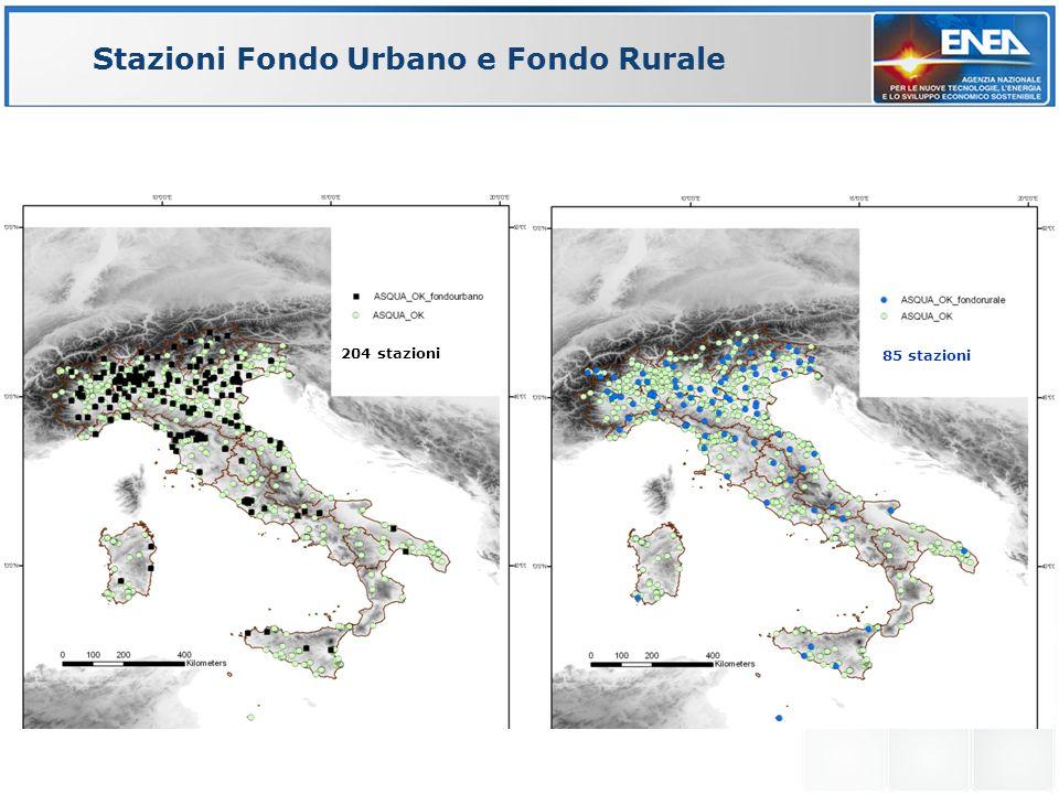 Stazioni Fondo Urbano e Fondo Rurale