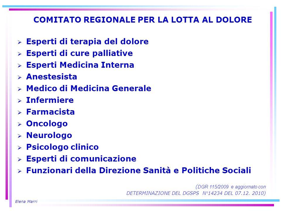 COMITATO REGIONALE PER LA LOTTA AL DOLORE
