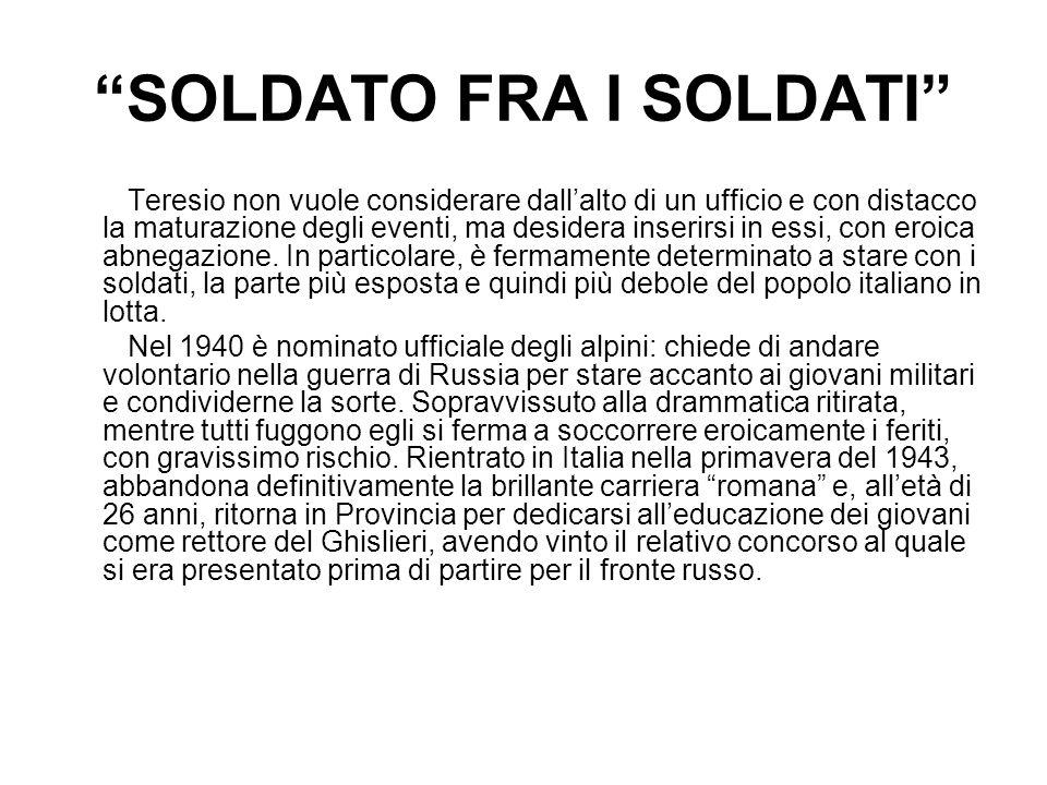 SOLDATO FRA I SOLDATI