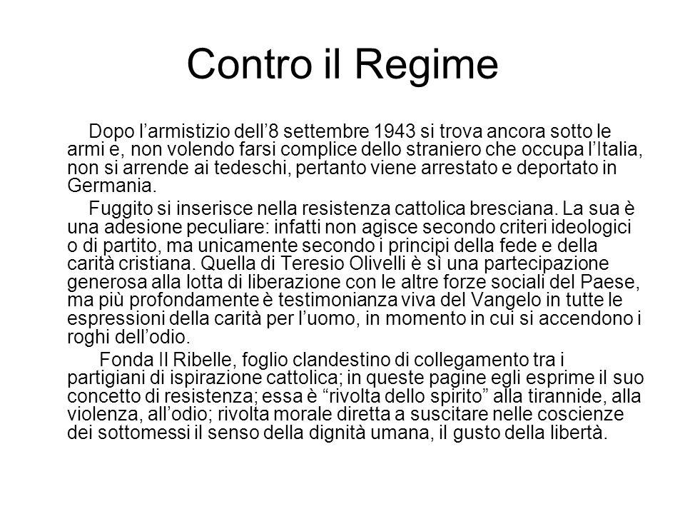 Contro il Regime