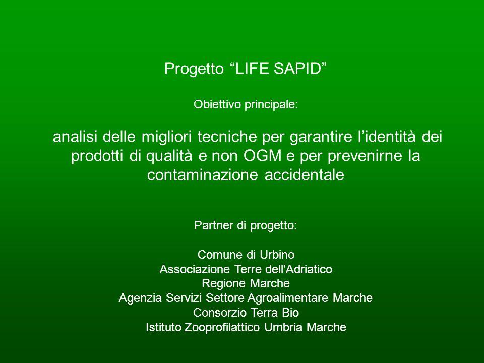 Progetto LIFE SAPID Obiettivo principale: