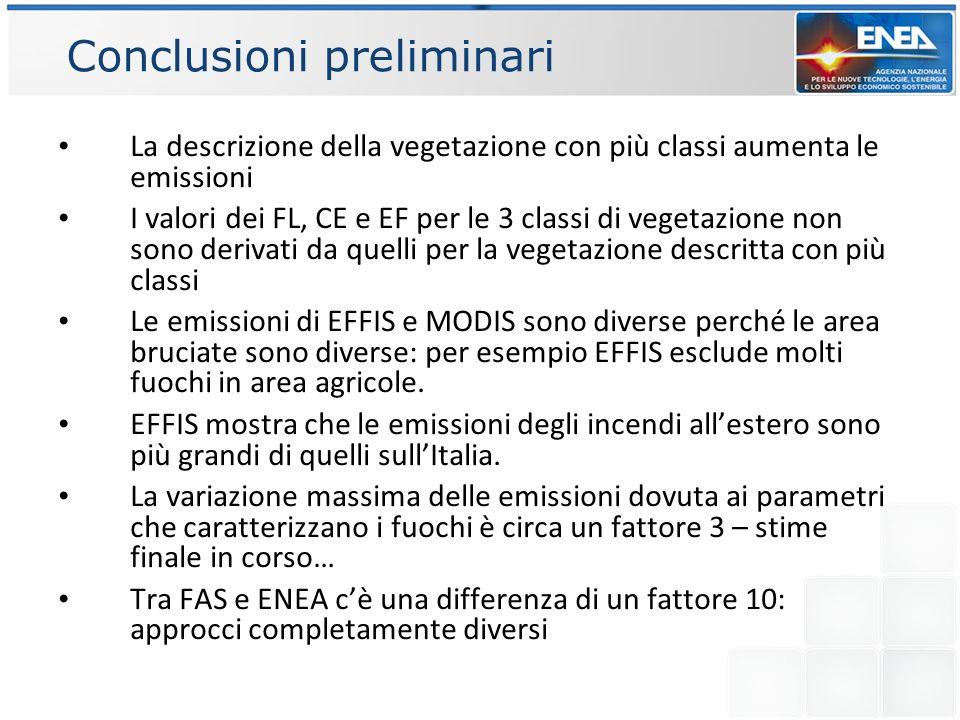 Conclusioni preliminari