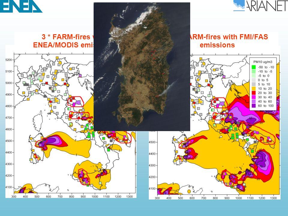 3 * FARM-fires with ENEA/MODIS emissions