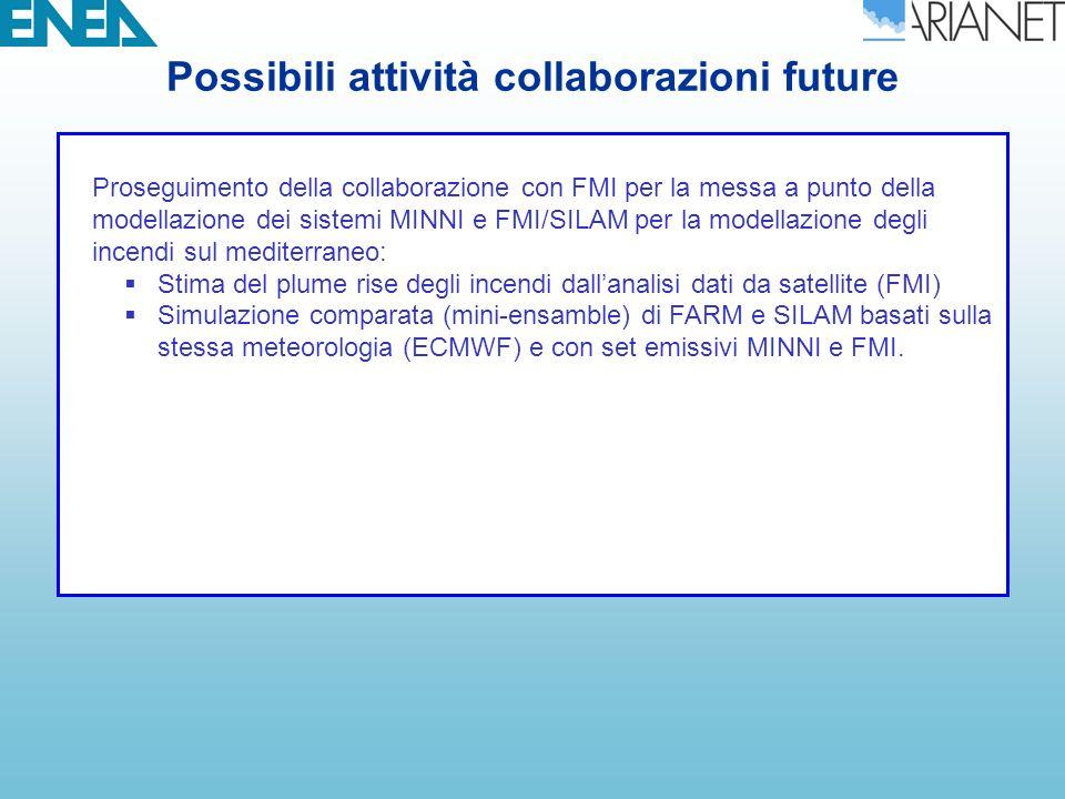 Possibili attività collaborazioni future
