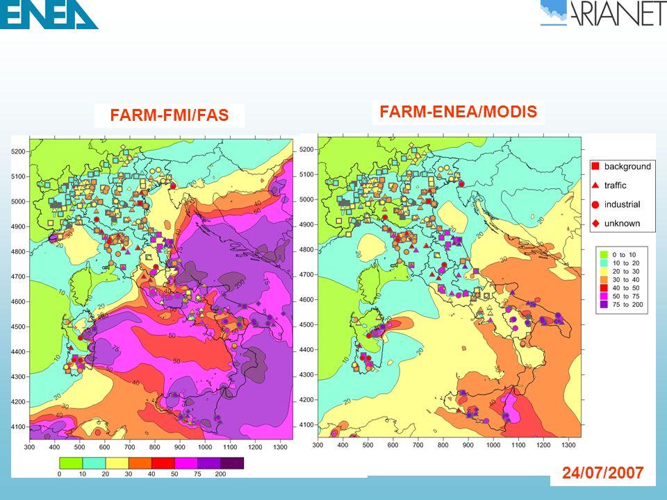 FARM-FMI/FAS FARM-ENEA/MODIS 24/07/2007