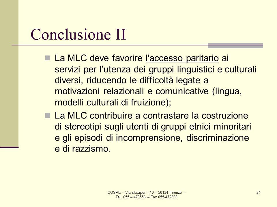 Conclusione II
