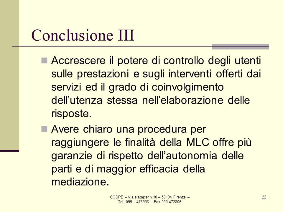 Conclusione III