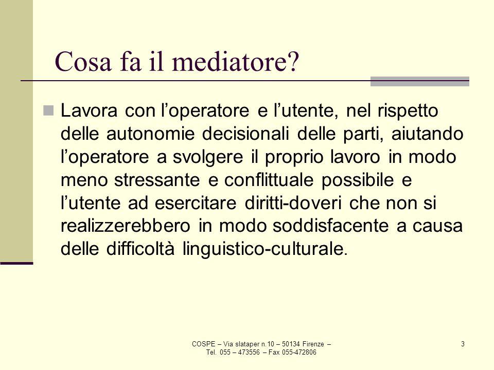 Cosa fa il mediatore