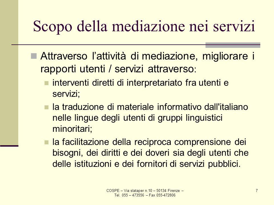 Scopo della mediazione nei servizi