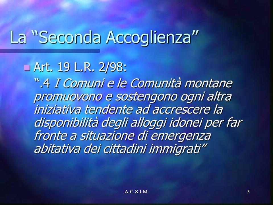 La Seconda Accoglienza