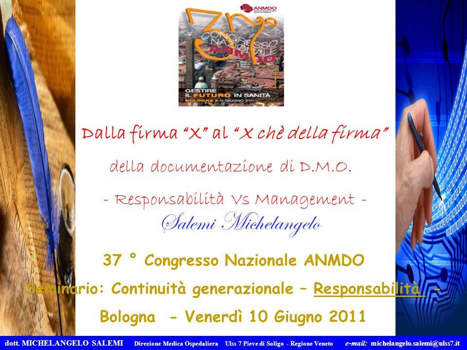 Salemi Michelangelo Dalla firma X al X chè della firma