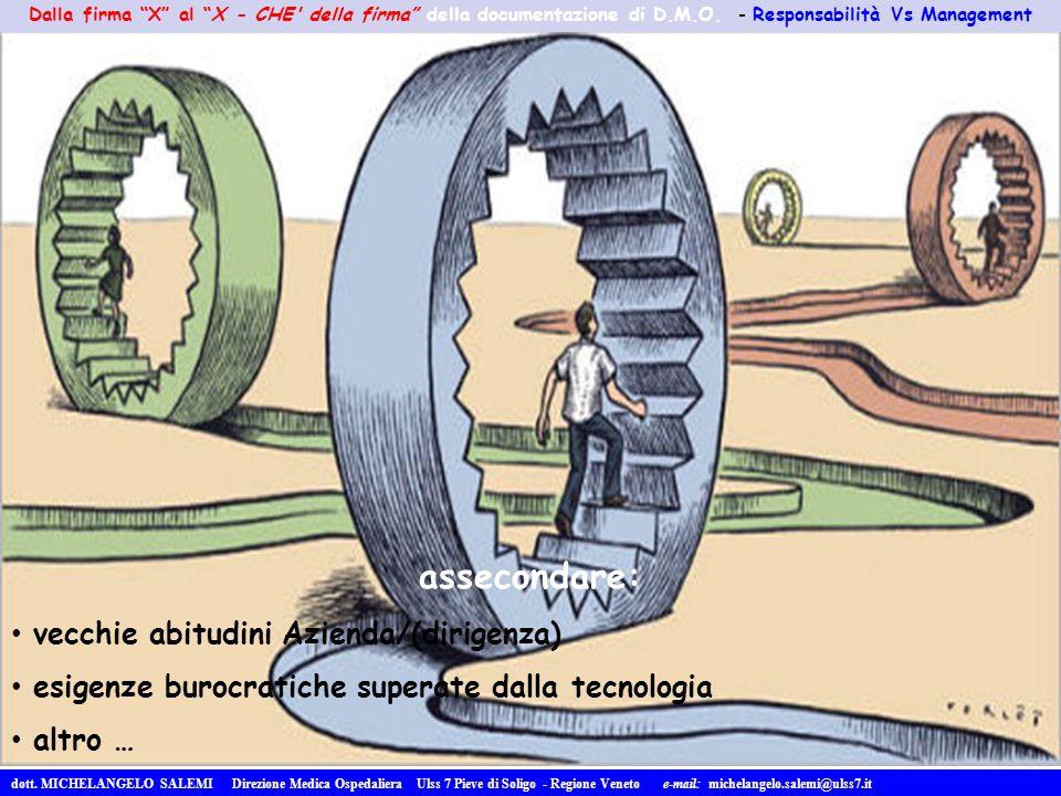 assecondare: vecchie abitudini Azienda/(dirigenza)