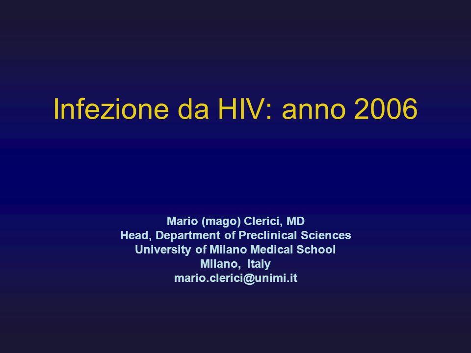 Infezione da HIV: anno 2006 Mario (mago) Clerici, MD