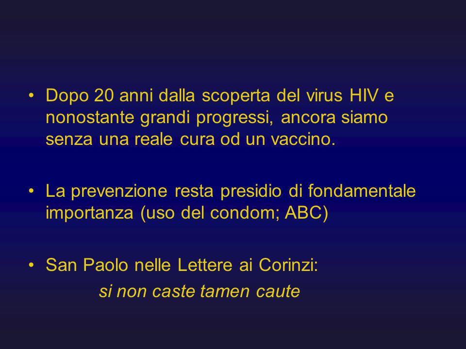 Dopo 20 anni dalla scoperta del virus HIV e nonostante grandi progressi, ancora siamo senza una reale cura od un vaccino.