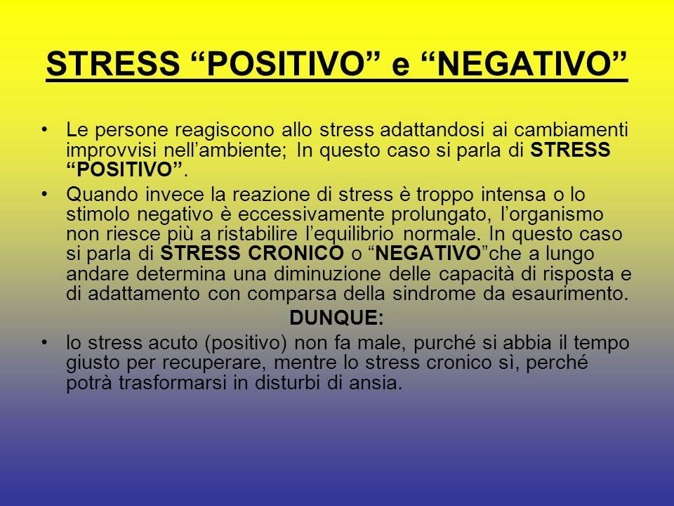 STRESS POSITIVO e NEGATIVO