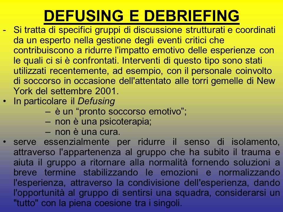 DEFUSING E DEBRIEFING