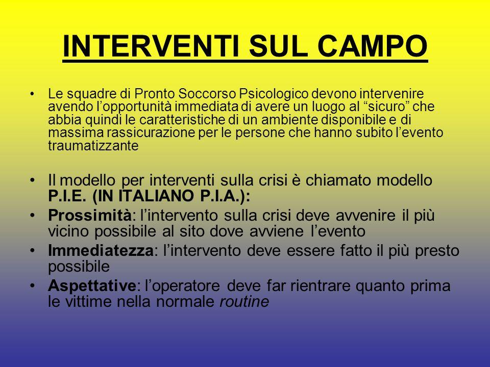 INTERVENTI SUL CAMPO