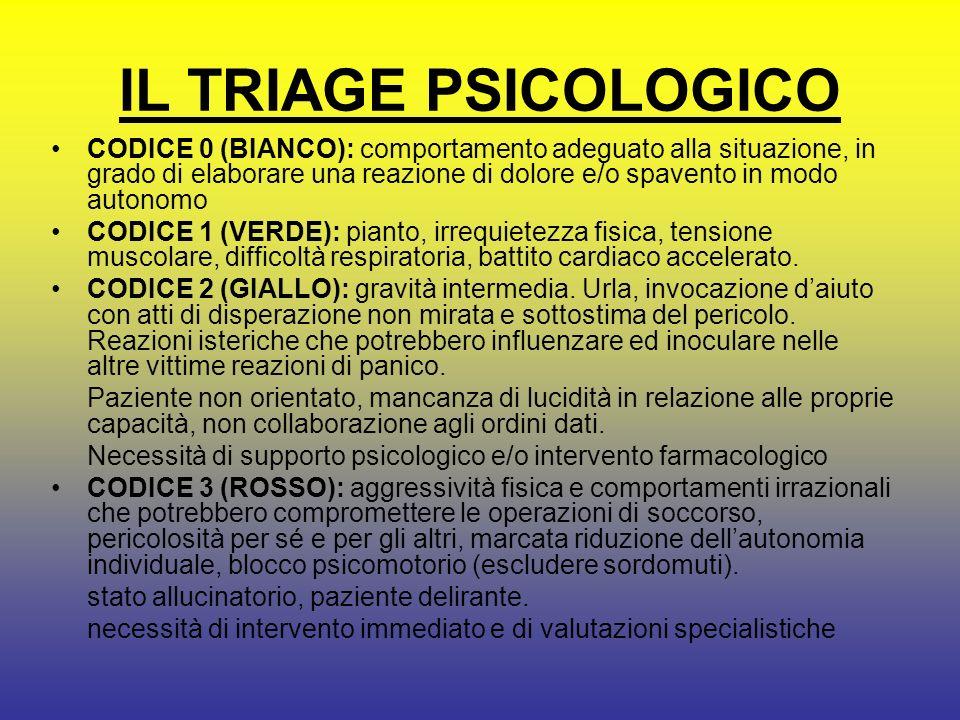 IL TRIAGE PSICOLOGICO