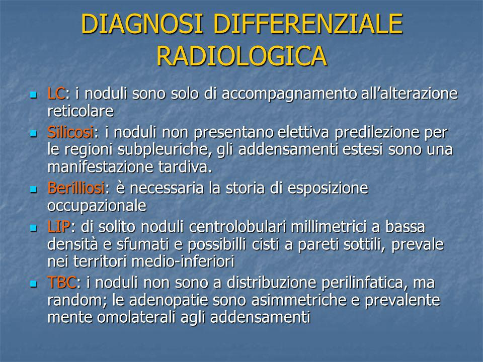 DIAGNOSI DIFFERENZIALE RADIOLOGICA