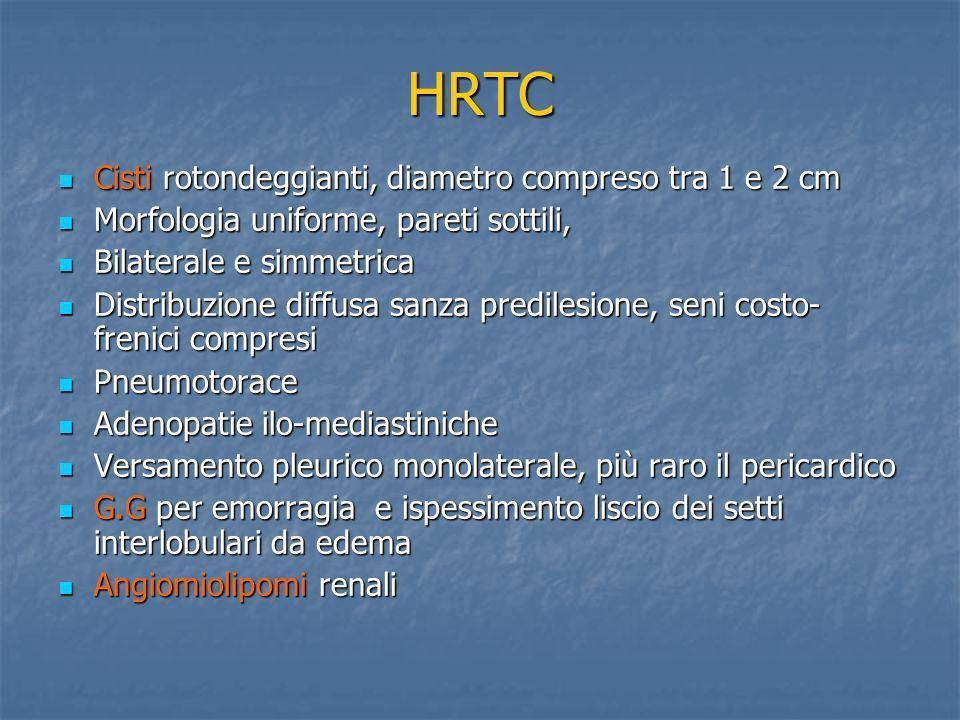 HRTC Cisti rotondeggianti, diametro compreso tra 1 e 2 cm