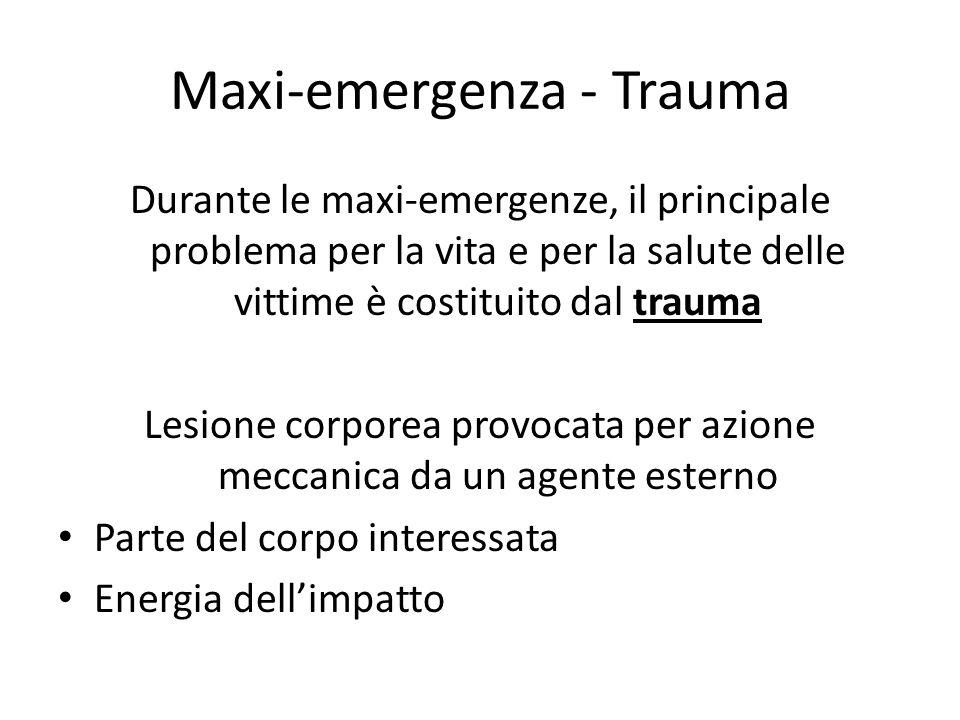 Maxi-emergenza - Trauma