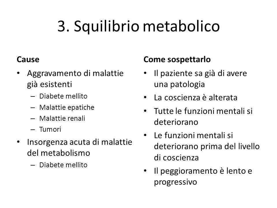 3. Squilibrio metabolico
