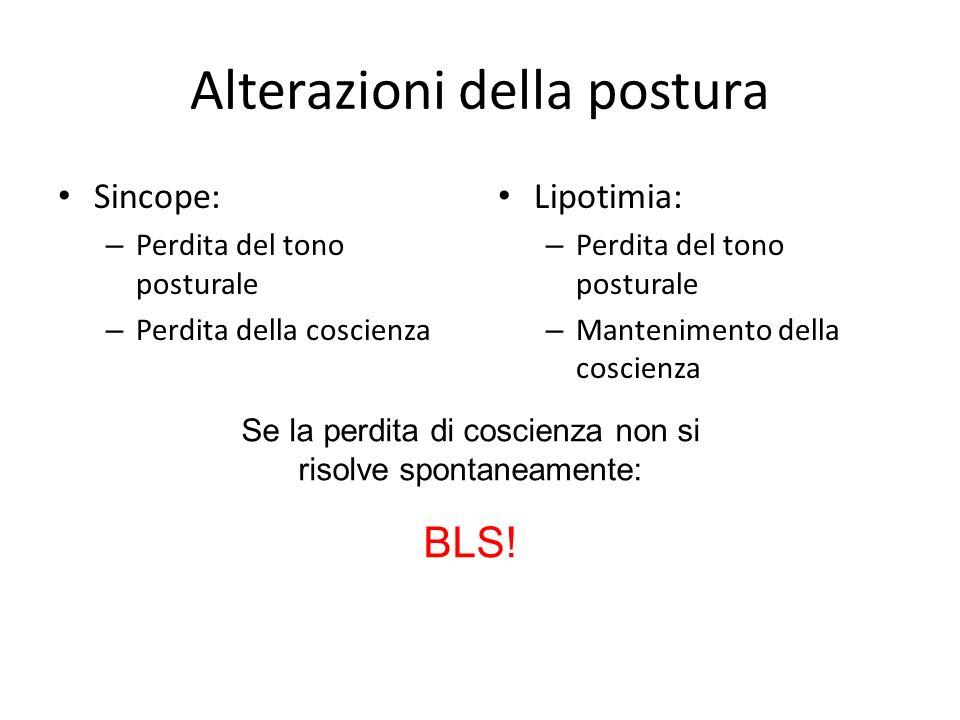 Alterazioni della postura